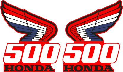 Picture of Honda CR500 1987 replacement tank Decals  / Stickers