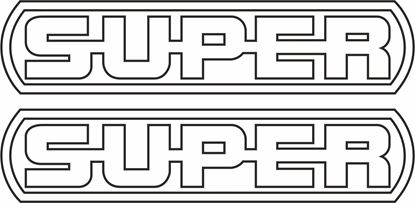 "Picture of Scania ""Super"" V8  general Panel Decals / Sticker"