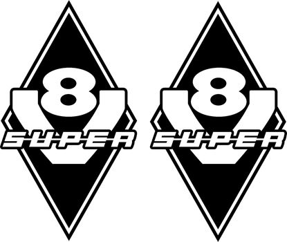 "Picture of ""V8 Super""Panel Decals / Stickers"