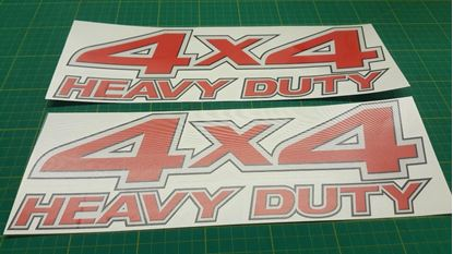 Picture of Nissan Frontier / Navara 4x4 Heavy Duty Replacement Decals / Stickers