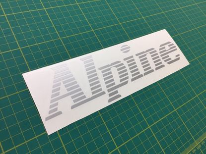 Picture of Renault Alpine replacement rear Decal / Sticker