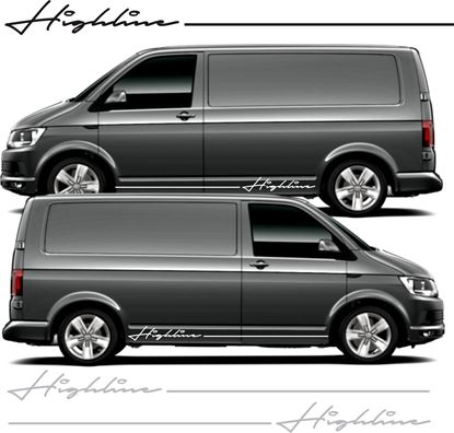 """Picture of VW T5 / T6 """"Highline""""  Stripes &  Stickers"""