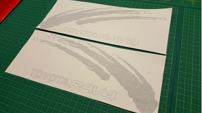 Picture of Toyota RAV 4 replacement side Decals / Stickers  set