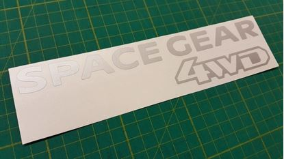 Picture of Mitsubish Delica Space gear replacement rear Decal / Sticker