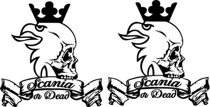 "Picture of Scania ""Scania or Dead"" large general panel Decals / Stickers"