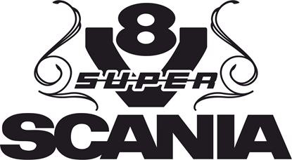 "Picture of ""Scania V8 Super"" Panel Decal / Sticker"