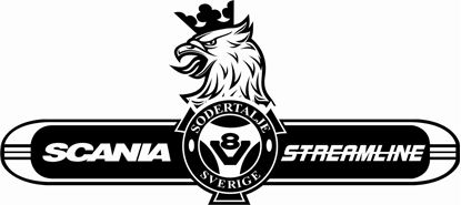 "Picture of ""Scania V8 Streamline"" panel Decal / Sticker"