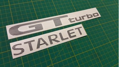 Picture of Toyota Starlet GT Turbo rear hatch Decals / Stickers