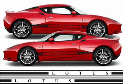 Picture of Lotus Evora side stripes  Decals / Stickers