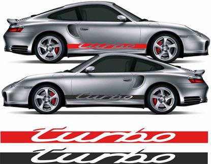 "Picture of Porsche 911 / S / 996  ""Turbo""  side Stripes / Stickers"