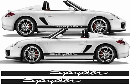Picture of Porsche 981 Boxster / 987 Spyder stripes / Stickers