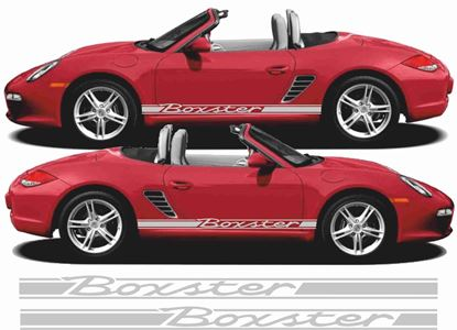 2X Lowered car outline stickers for Karmann Porsche 914classic