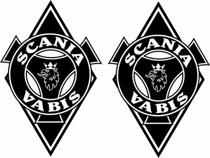 "Picture of Scania  ""Scania Vabis"" front corner Panel Decals / Stickers"