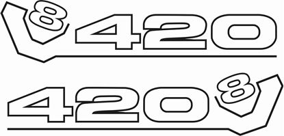 "Picture of Scania ""420 V8"" general Panel/ Glass  Decals / Sticker"
