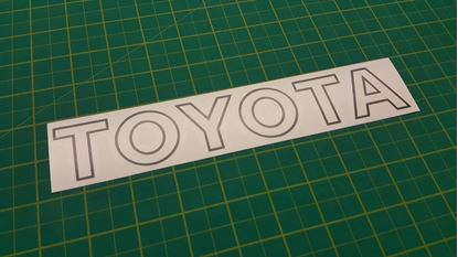 Picture of Toyota MR2 Mk1 replacement Bonnet Decal / Sticker
