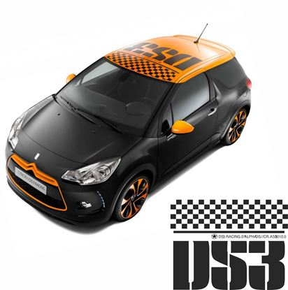 Picture of DS3 Racing roof Decals / stickers