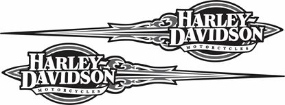 Picture of Harley Davidson Tank / Panel Decals / Stickers