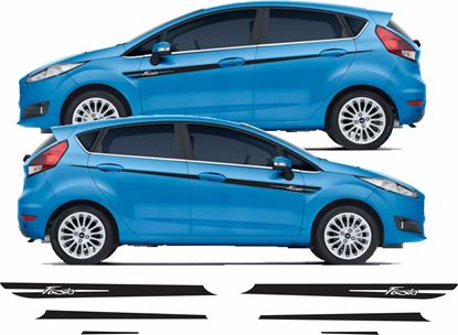 Picture of Ford Fiesta MK7 Side Stripes / Stickers 5 DOOR