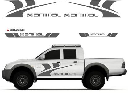 Picture of Mitsubishi L200 Animal Graphics / Stickers
