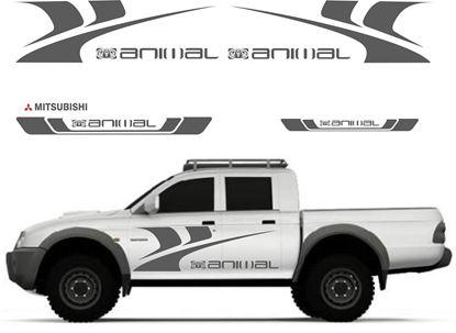 Picture of Mitsubishi L200 Animal Graphics / Stickers