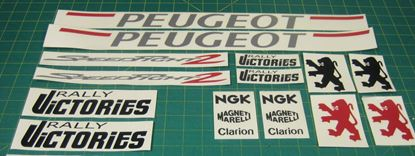 Picture of Peugeot Speed Fight 2 Rally Victories Decals / Stickers