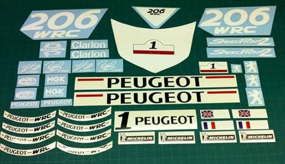 Picture of Peugeot Speed Fight 206 WRC replacement Decals / Stickers
