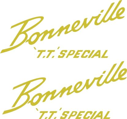 "Picture of Triumph ""Bonneville T.T. Special"" restoration side cover / Panel  Decals / Stickers"