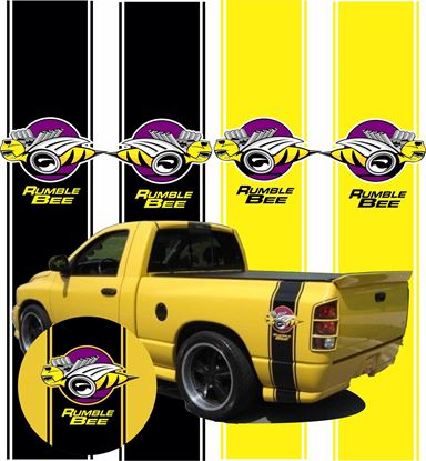 """Picture of Dodge Ram """"Rumble Bee"""" Side Stripes / Stickers"""