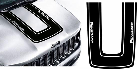 Zen Graphics Jeep Renegade Bonnet Hood Decal Sticker