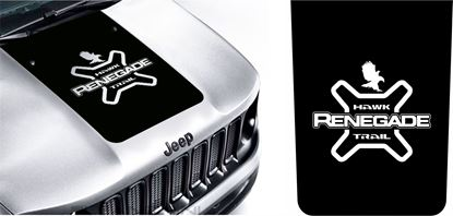 "Picture of Jeep Renegade ""Hawk Trial"" Bonnet / Hood Decal / Sticker"