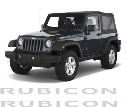 "Picture of Jeep  Wrangler ""Rubicon"" side Bonnet / Hood Decals / Stickers"