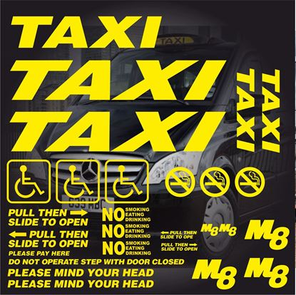 Picture of Mercedes Vito M8 Taxi Minicab Graphics / Stickers / Decals