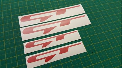 "Picture of Kia Cee'd / Optima ""GT"" Decals / Stickers"