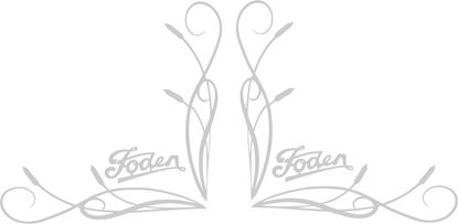 Picture of Foden  corner glass Decals / Stickers
