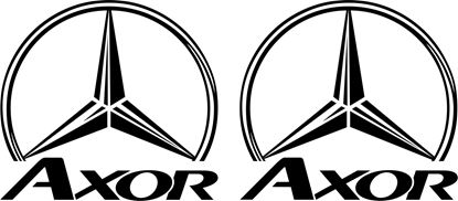 Picture of Mercedes Axor  general Panel / Glass  Decals / Sticker