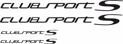 "Picture of Golf  MK7  ""Club sport S"" Decals / Stickers set"