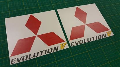 Picture of Mitsubishi  Evolution 5 spoiler side Decals /  Stickers