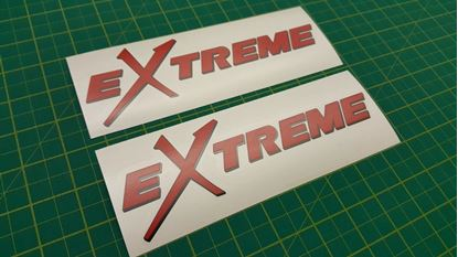 "Picture of Mitsubishi Lancer evolution ""Extreme"" Decals / Stickers"