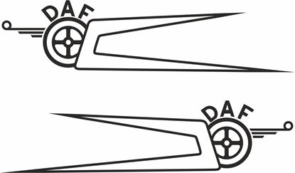 Picture of DAF XF / CF side roof boomerang  Decals / Stickers