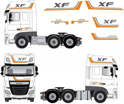"Picture of DAF XF ""Edition Prestige"" full Stripe / Graphics Livery / Stickers"