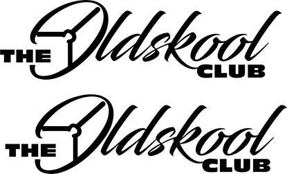 "Picture of ""The Oldskool Club"" Glass / Panel  Decals / Stickers"