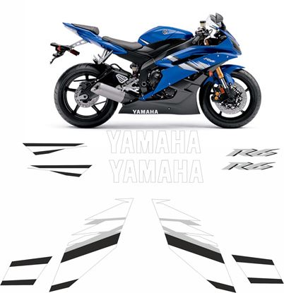 Picture of Yamaha YZF R6 Blue 2006 Replacement Decals / Stickers