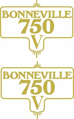 Picture of Triumph Bonneville 750V  Decals / Stickers
