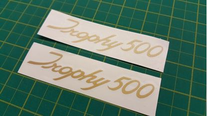 "Picture of Triumph ""Trophy 500"" Decals / Stickers"
