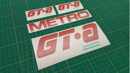 Picture of Rover Metro GTA replacement side and rear hatch Decals / Stickers