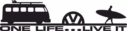 "Picture of VW Camper T2 ""One Life Live it"" Decal / Sticker"