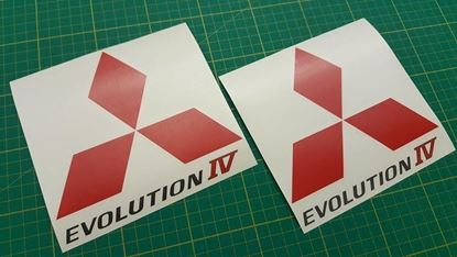 Picture of Mitsubishi Evolution 4 spoiler side Decals / Stickers