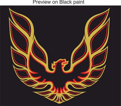 "Picture of Trans AM 1970's style 34"" Bonnet / Hood  Firebird restoration Decal / Sticker"