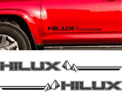 "Picture of Toyota ""Hilux"" Mountain Side Decals / Stickers"