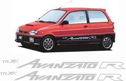 "Picture of Daihatsu Mira"" TR XX Avanzato R""  side replacement side  Decals / Sickers"